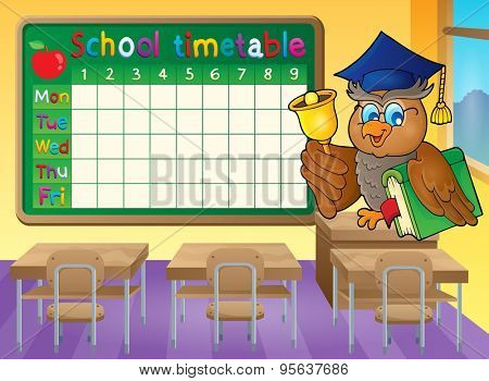 School timetable classroom theme 1 - eps10 vector illustration.