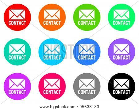 e-mail flat design modern icon for web and mobile app