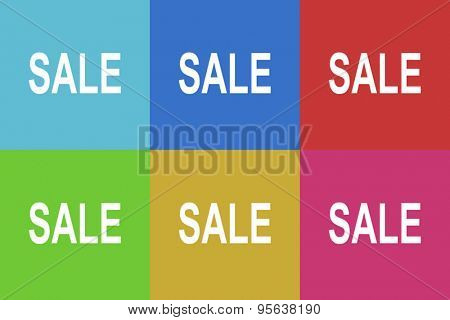 sale flat design modern vector icons set for web and mobile app