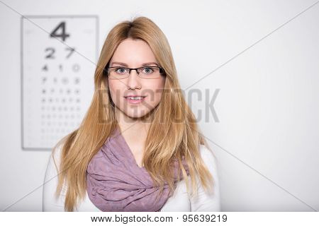 Lady Wearing Glasses