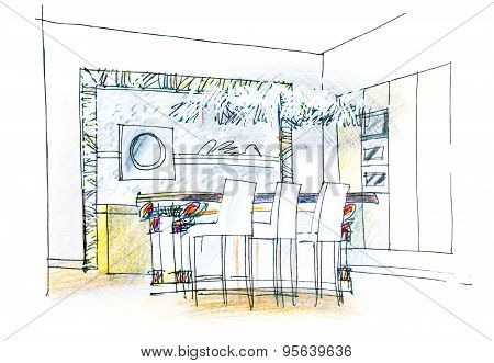 Dining Table Sketch