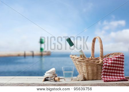 Picnic For One Person At The Sea