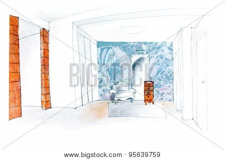 Hall Room Sketch