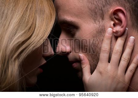Touching Boyfriend's Face