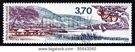 Postage Stamp France 1987 Meuse District