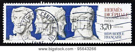 Postage Stamp France 1988 Hermes Dicephalus, Frejus