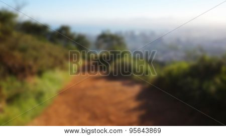 Unfocus Trail And View At Cape Town, South Africa