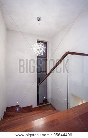 Staircase With Wooden Stairs
