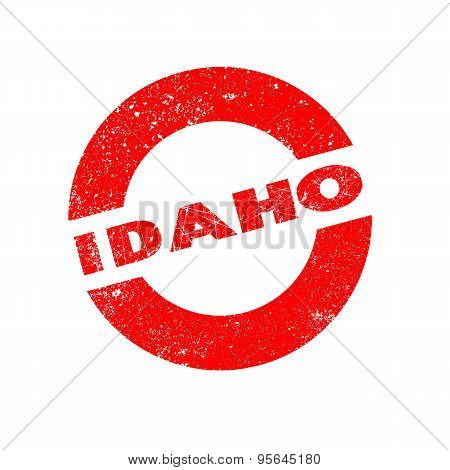 Rubber Ink Stamp Idaho