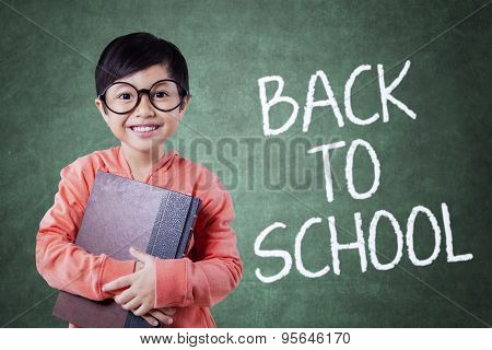 Smart Little Student And Back To School Text