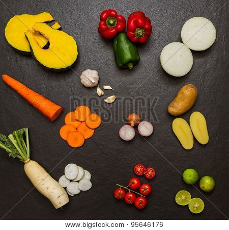 Vegetables For Cooking And Healthy.