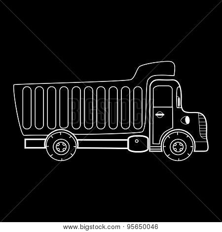 Truck With Body For Bulk Goods