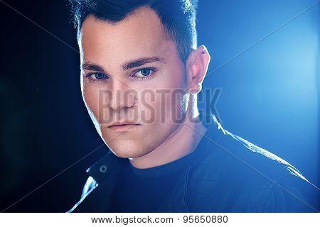 portrait of a cool mature man