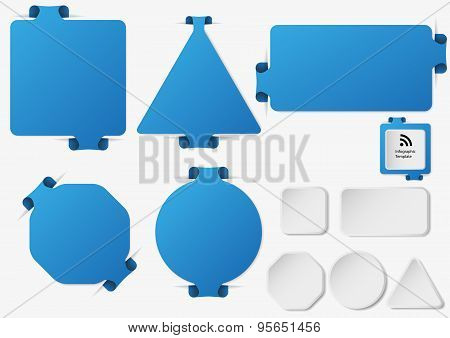 Set Of Illustration Infographic Templates With Blue Color