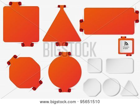 Set Of Illustration Infographic Templates With Orange Color