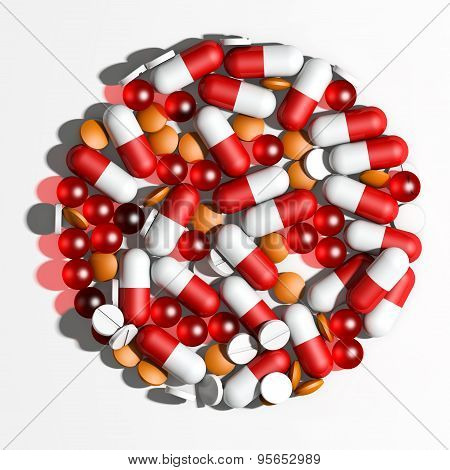pills background 3d rendering