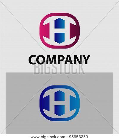 H Letter Logo Icon Design template Element