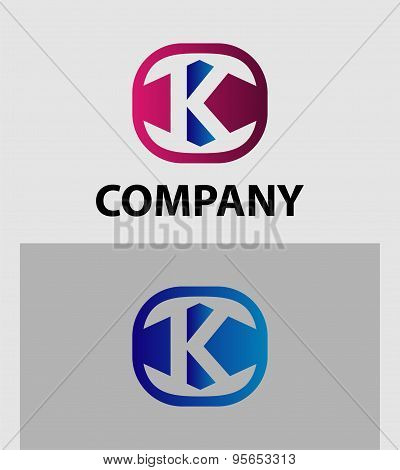 K Letter Logo Icon Design template Element