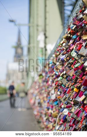 Love Locks On The Hohenzollern Bridge In Cologne