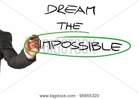 Personal Motivator Writing A Dream The Impossible Message