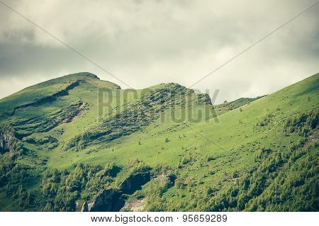 Mountains cliff Landscape moody weather clouds