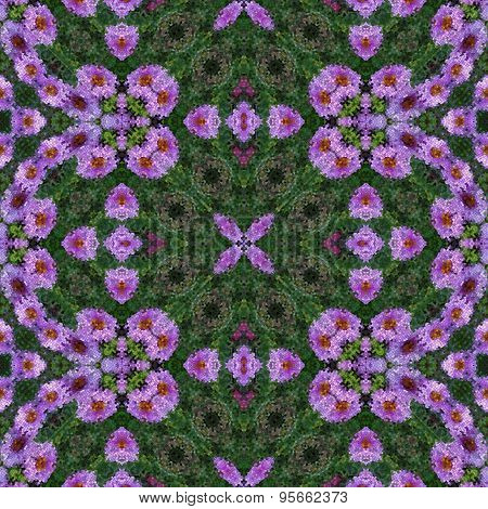 Mosaic texture-aster flowers