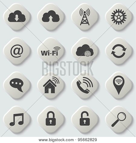 Set Of Universal Icons For Web And Mobile
