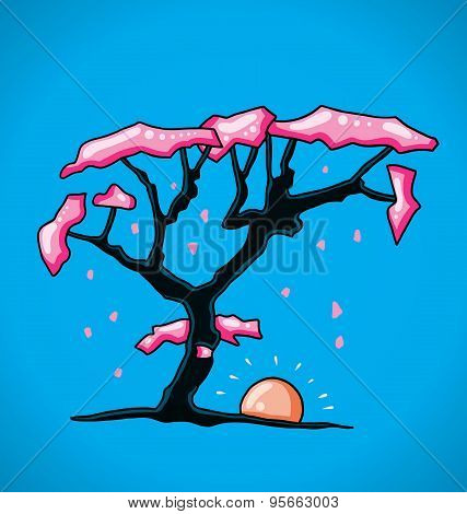 Figure cherry tree
