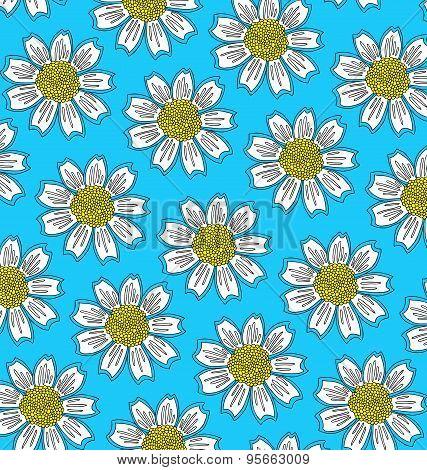 pattern of big white flowers