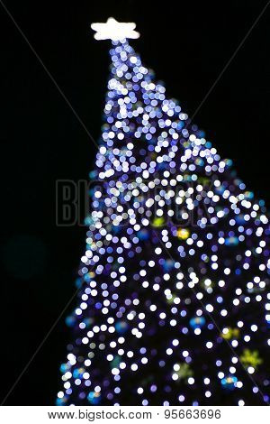 Christmas Tree From Color Lights
