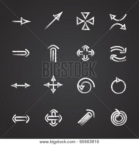 Vector set of Chalk arrows