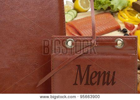 Leather Menu In A Restaurant