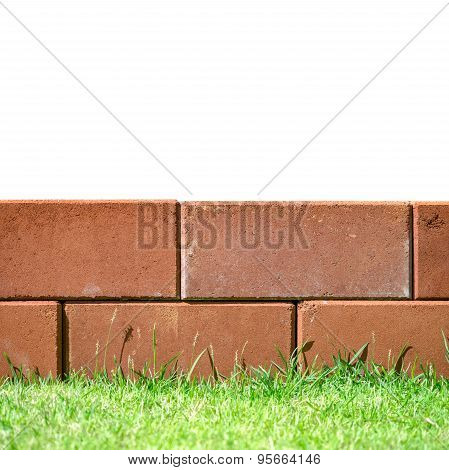 Brick Layers On Green Grass