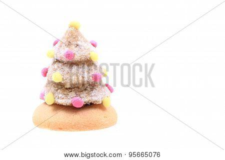 Christmas Dessert As Christmas Tree