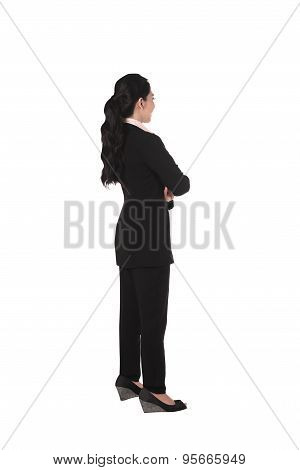 Fullbody Asian Business Woman