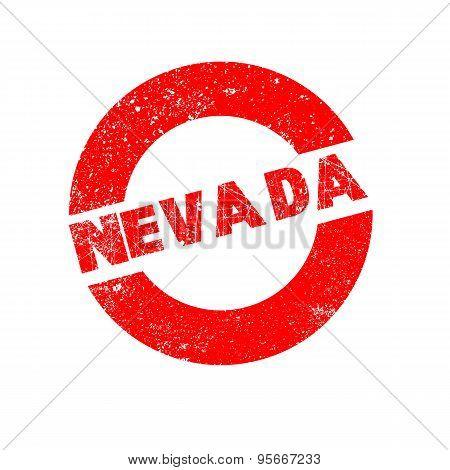 Rubber Ink Stamp Nevada