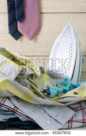 Iron And Laundry Housework