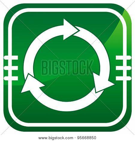 Arrows Circle Green Vector Icon