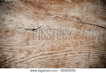 Old Brown Cracked Wood