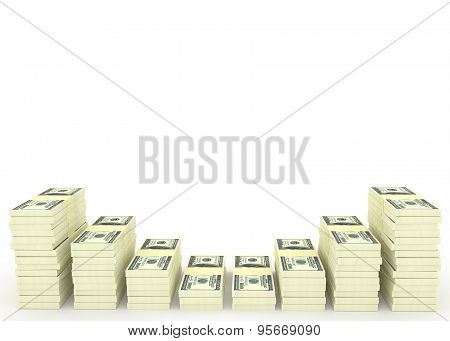 Money Stack With Blank Space For Text. Finance Concepts