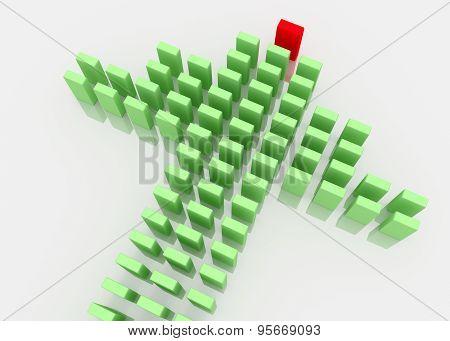 3D Leadership Concept