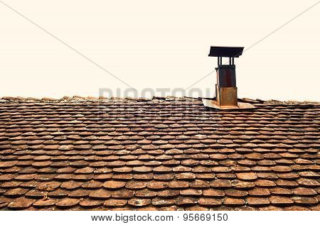 Old Roof And Chimney