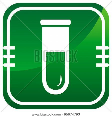 Test Tube Icon. Biochemistry And Microbiology Equipment.