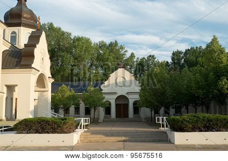 Ukrainian Orthodox Church And Courtyard