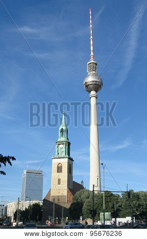 Architecture of Berlin featuring the TV Tower