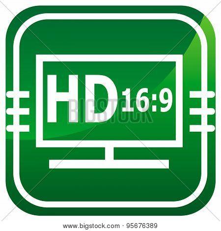 Hd Display Green Icon.