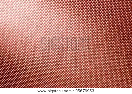 Red Fabric Nylon Background Texture With Light From Corner