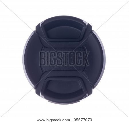 Lens Cap Isolated On A White Background