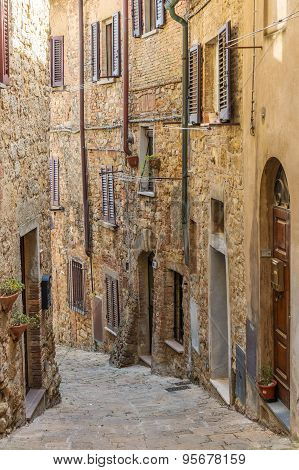 Alley In The Old Town Of Volterra Tuscany Italy
