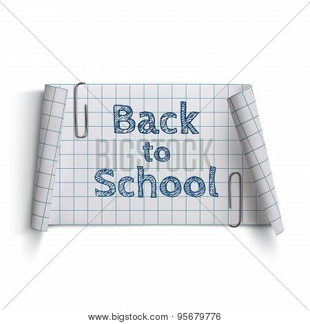 Back to School, curved paper banner.